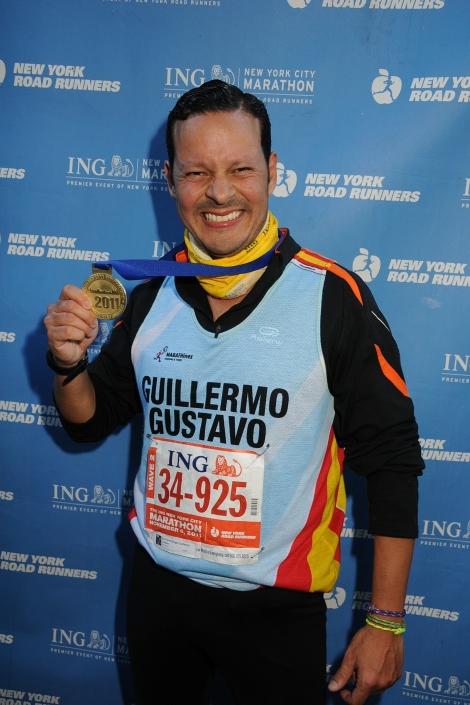 Llegada en el Maratón de New York 2011