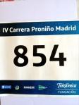 Dorsal Carrera Proniño.
